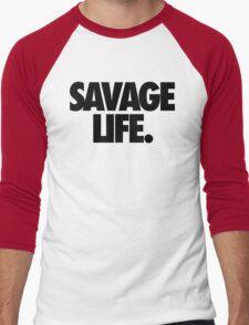 SAVAGE LIFE. Men's Baseball ¾ T-Shirt