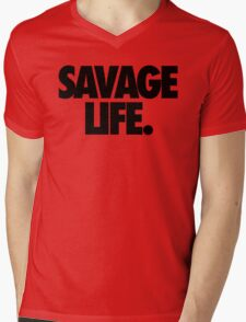 SAVAGE LIFE. Mens V-Neck T-Shirt