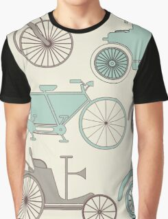 Seamless pattern with vintage cars and bikes Graphic T-Shirt