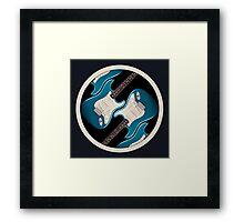 Blue Strat Ring Framed Print