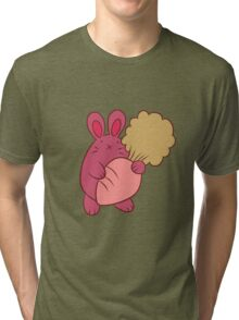 Chubby Bunny with Carrot Tri-blend T-Shirt