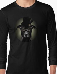 4.Dapper Eduardian Pit Bull in Steampunk Gear Long Sleeve T-Shirt