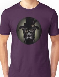 4.	Dapper Eduardian Pit Bull in Steampunk Gear Unisex T-Shirt