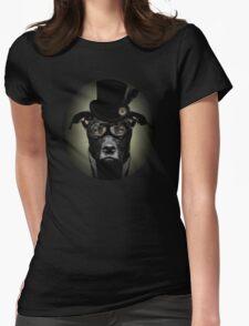 4.Dapper Eduardian Pit Bull in Steampunk Gear Womens Fitted T-Shirt