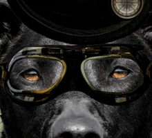 4.	Dapper Eduardian Pit Bull in Steampunk Gear Sticker