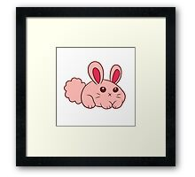 Cute Round Bunny Framed Print