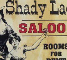Shady Lady Saloon Sticker