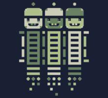 Acorn Rocket Bots Green Kids Tee