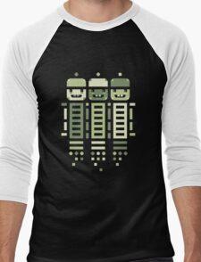 Acorn Rocket Bots Green Men's Baseball ¾ T-Shirt