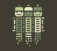Acorn Rocket Bots Green Unisex T-Shirt