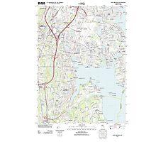USGS TOPO Map Rhode Island RI East Greenwich 20120604 TM Photographic Print