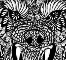 Mandala Wolf Sticker