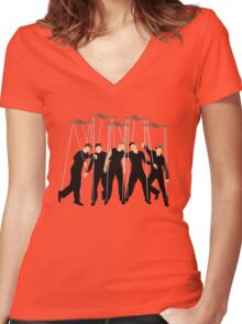 Nsync Women's Fitted V-Neck T-Shirt