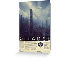 Mass Effect - Citadel Vintage Poster Greeting Card