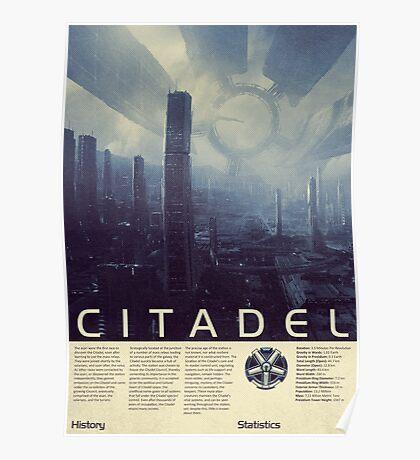 Mass Effect - Citadel Vintage Poster Poster