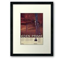 Mass Effect - Eden Prime Vintage Poster Framed Print