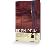 Mass Effect - Eden Prime Vintage Poster Greeting Card