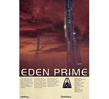 Mass Effect - Eden Prime Vintage Poster Photographic Print