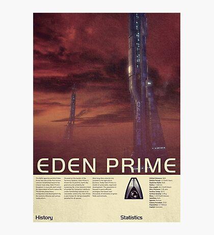 Mass Effect - Eden Prime Vintage Poster Photographic Print