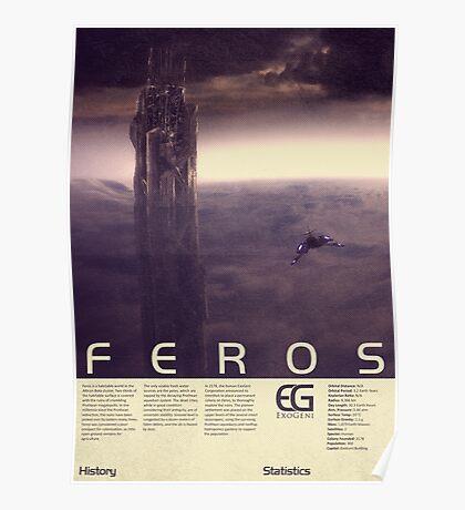 Mass Effect - Feros Vintage Poster Poster
