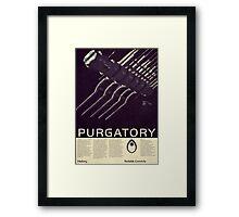 Mass Effect - Purgatory Vintage Poster Framed Print