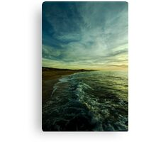 where water and sky meet Canvas Print