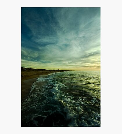 where water and sky meet Photographic Print