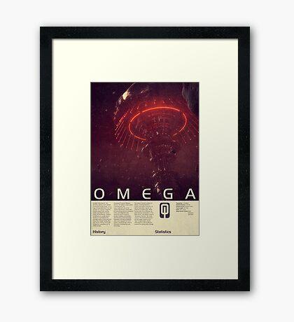 Mass Effect - Omega Vintage Poster Framed Print