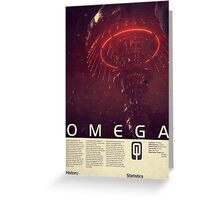 Mass Effect - Omega Vintage Poster Greeting Card