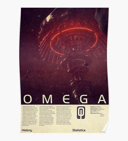 Mass Effect - Omega Vintage Poster Poster