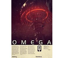 Mass Effect - Omega Vintage Poster Photographic Print