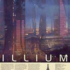 Mass Effect - Illium Vintage Poster by Titch-IX