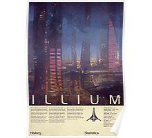 Mass Effect - Illium Vintage Poster Poster