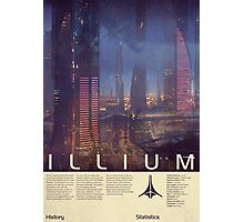 Mass Effect - Illium Vintage Poster Photographic Print