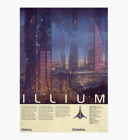 Mass Effect - Illium Vintage Poster Photographic Print