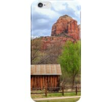 Cabin At Cathedral Rock iPhone Case/Skin