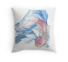 Fighting Fish Throw Pillow