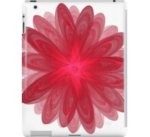 Red Flower Bloom Fractal  iPad Case/Skin