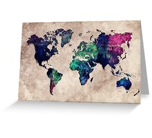 World map watercolor 1 Greeting Card
