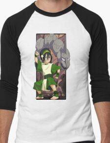 Toph and Onix - Pokemon and Earthbender Men's Baseball ¾ T-Shirt