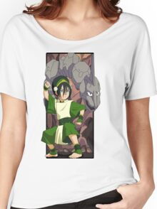 Toph and Onix - Pokemon and Earthbender Women's Relaxed Fit T-Shirt