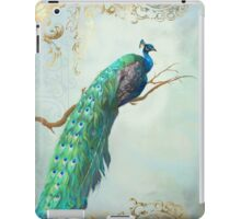Elegant Peacock w Feathers on Branch iPad Case/Skin
