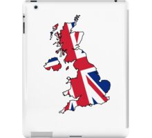 United Kingdom Map And Flag iPad Case/Skin