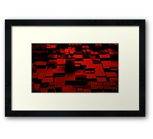 Cube Red Framed Print