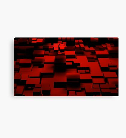 Cube Red Canvas Print