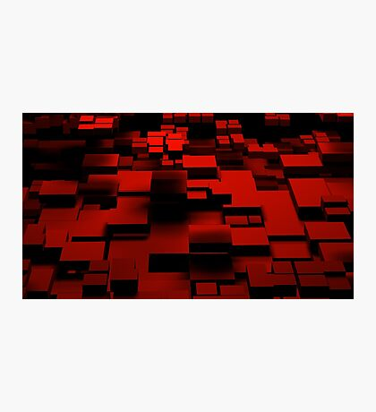 Cube Red Photographic Print