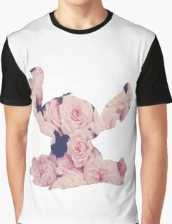 Flowers Stitch  Graphic T-Shirt