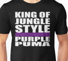 Purple Puma King of Jungle Style Unisex T-Shirt
