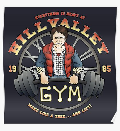 Hill Valley Gym Poster