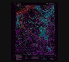 USGS TOPO Map New Jersey NJ Woodbury 255007 1967 24000 Inverted Unisex T-Shirt